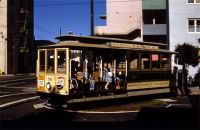 SF CABLE CAR ON TURNTABLE AUG 5 1957 D