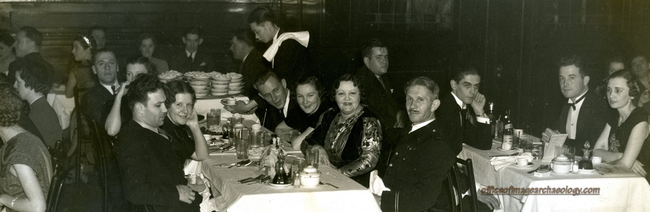 AMERICAN ESCADRILLE DINNER CR SPENCER 2ND WIFE DIXIE  LEFT