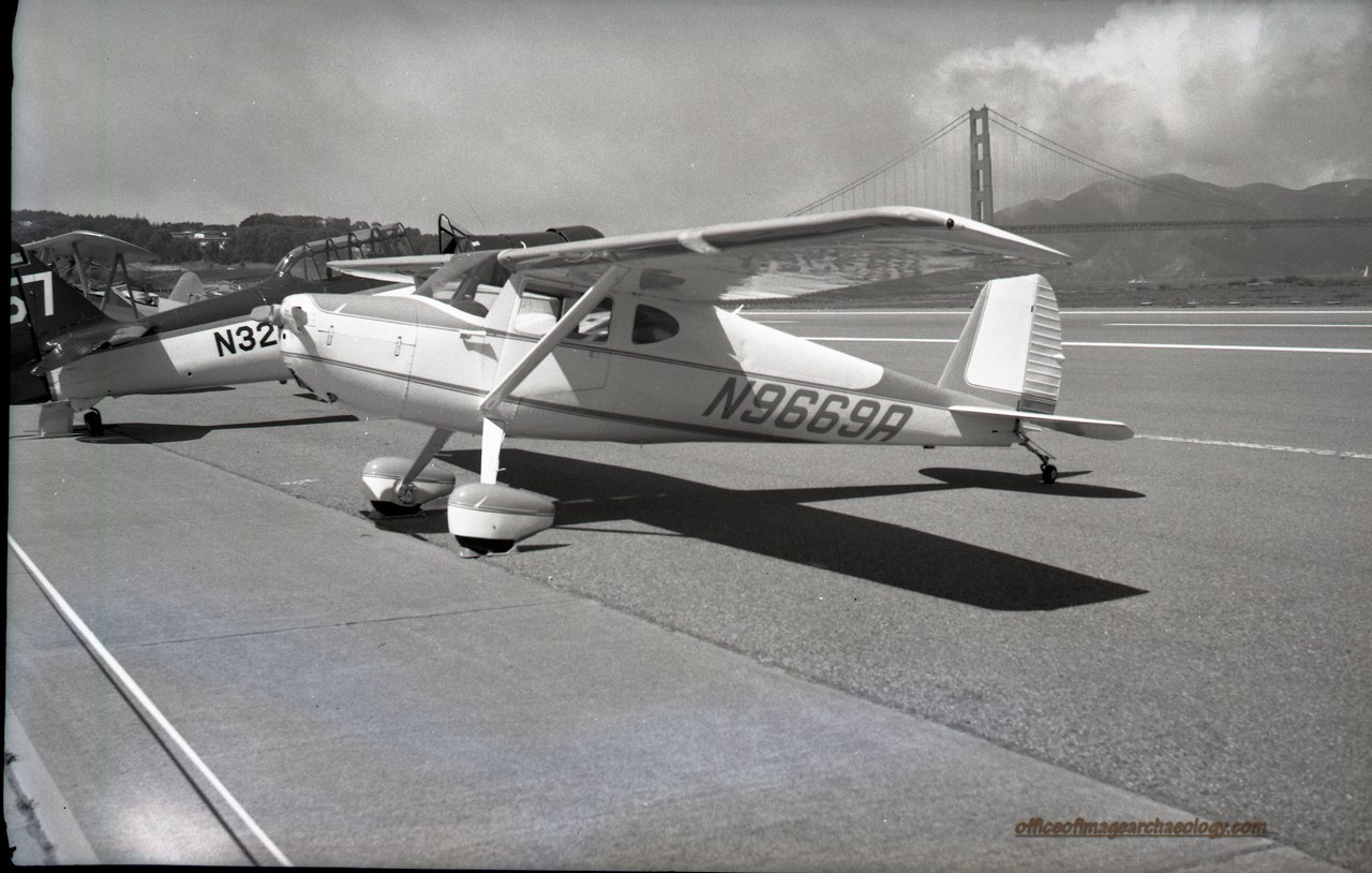 Cessna 140A N9669A Built 1950 Crissy Field Aug 1971