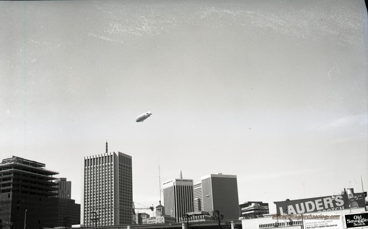 Goodyear Blimp Columbia Over S.F. Sept 1970