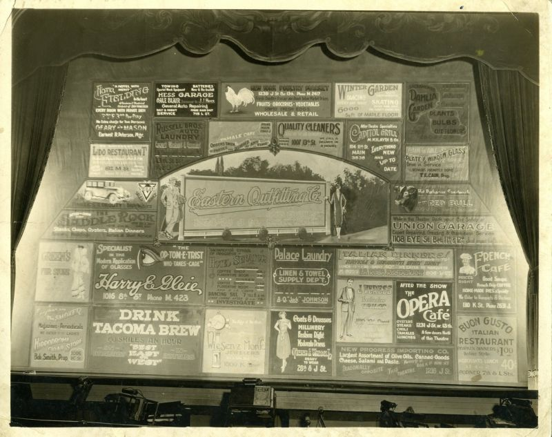California Sacramento theater advertisment