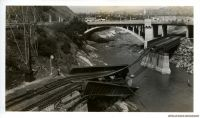 LOS ANGELES TO GLENDALE SP RR BRIDGE WASHOUT MARCH 1938