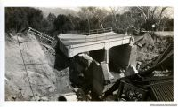 LOS ANGELES TO SANTA ANITA HWY BRIDGE WASHOUT 1938