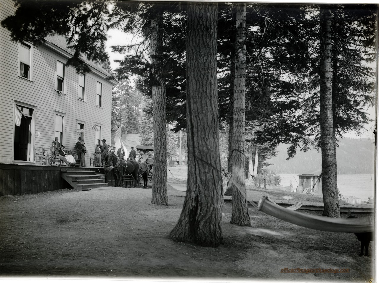 CALIFORNIA LAKE TAHOE McKinneys Lodge  1890's NEGATIVE