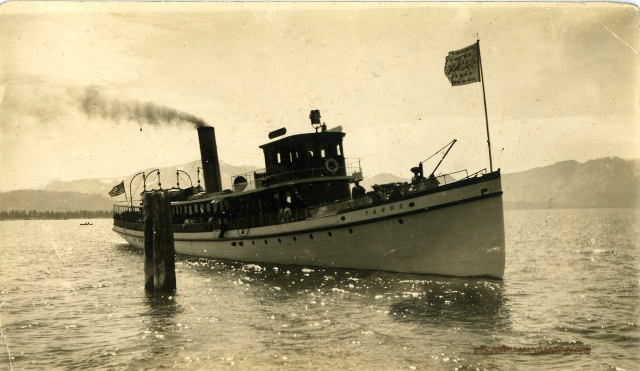 CALIFORNIA LAKE TAHOE STEAMER TAHOE 1910