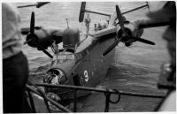Martin PBM-5 Mariner damaged ball turret b