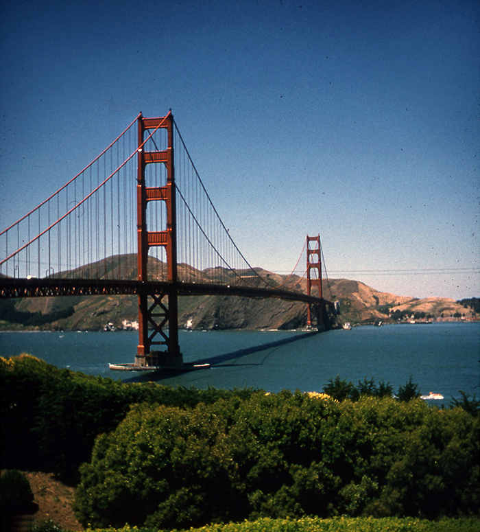 35MM PHOTOGRAPH OF THE GOLDEN GATE BRIDGE TAKEN IN 1957