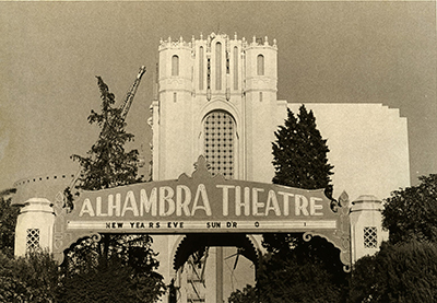 Photographs 1973 destruction of a Sacramento landmark, The Alhambra Theater