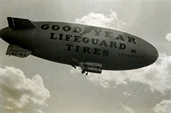 1939 PHOTO OF THE AIRSHIP GOODYEAR ENTERPRISE
