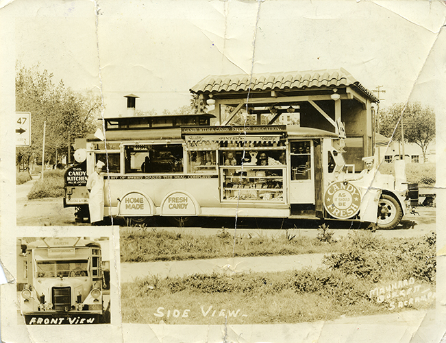 Pinter's Mobile Candy Truck damaged photo