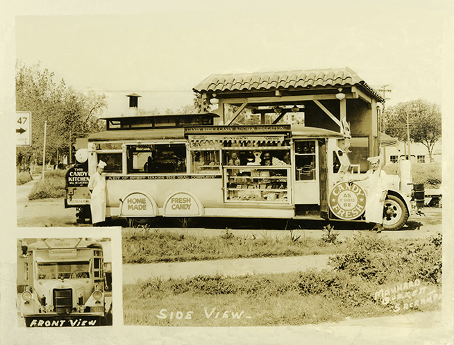 Pinter's Mobile Candy Truck circa 1925