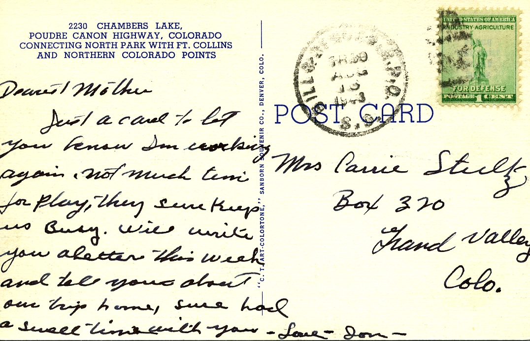 POST CARDS1944020A