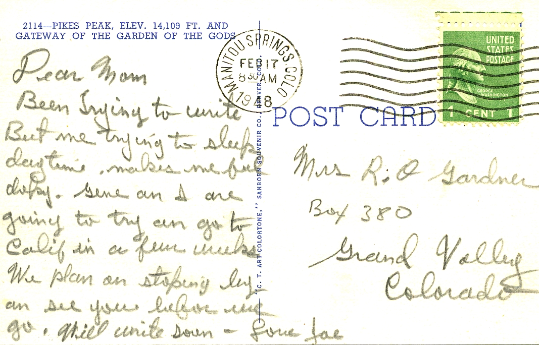 POST CARDS1944021A