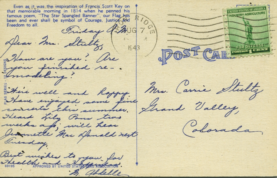 POST CARDS1944031A